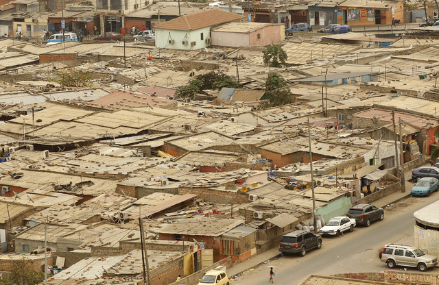 Informal settlements are seen in Luanda, Angola, 30 August 2012