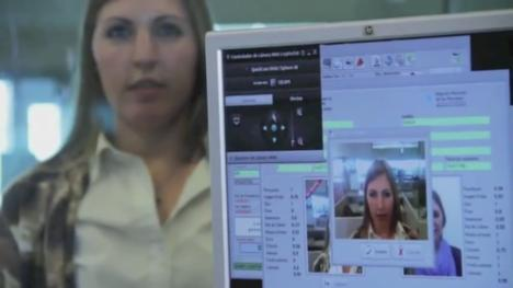 Screenshot from a video about the Federal System of Biometric Identification or SIBIOS