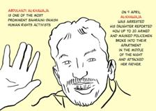 The hunger strike of al-Khawaja told in pictures. See GraphicJournalism.org for the full image