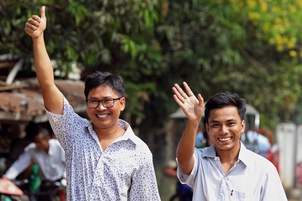 Reuters reporters walk free as campaign for media reform continues in Myanmar