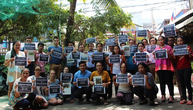 Cambodia Centre for Human Rights stand with press freedom in Cambodia