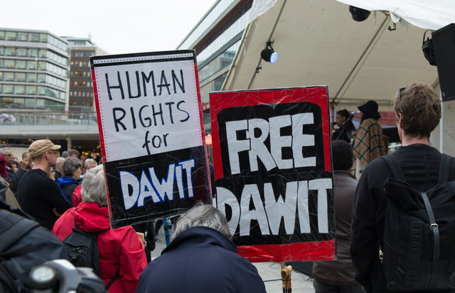 Demonstration for Dawit Isaak 5000 days in jail, June 2015