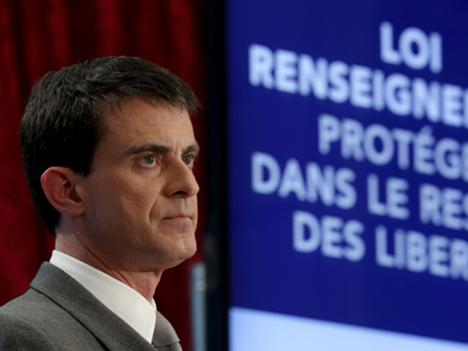 French Prime Minister Manuel Valls presents the new government draft bill for security and anti-terrorism, Paris, 19 March 2015