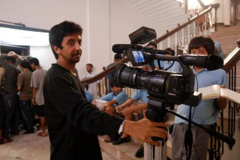 Ashvin Kumar shooting in the Doon School, India for his film