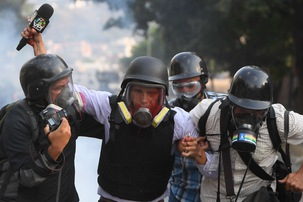Challenges facing journalists trying to cover latest violence in Venezuela