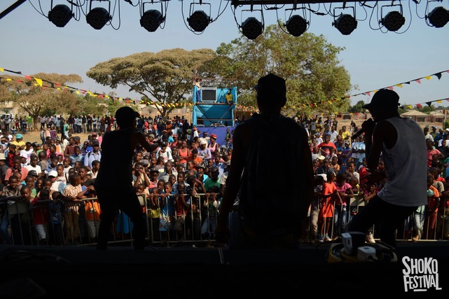 Hip hop artists perform at the Magamba Network's annual Shoko Festival in Harare, Zimbabwe